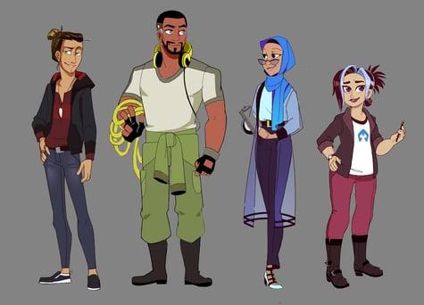 HumanEx Characters Dec