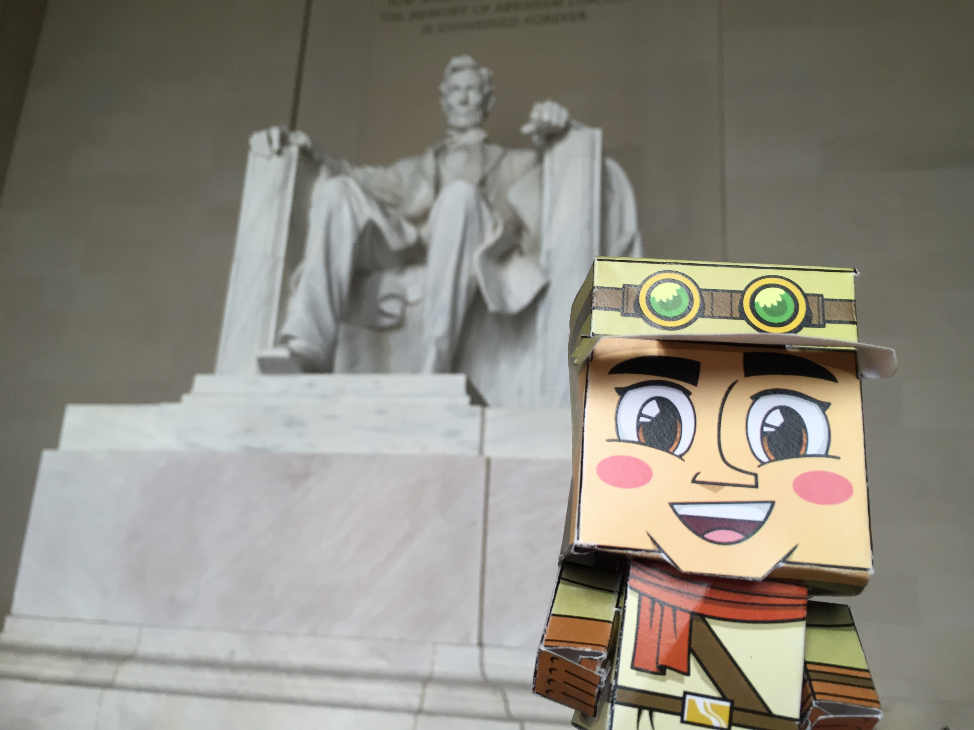 Lincoln Memorial Washington DC Papercraft Literacy Instruction