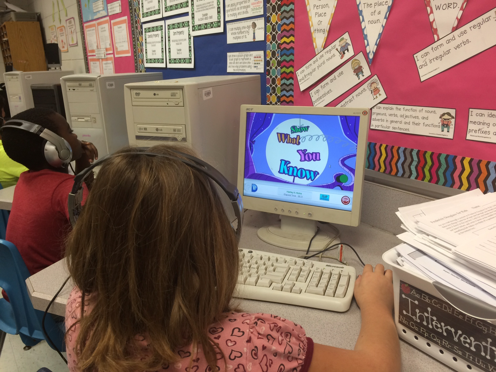 Student using Istation on a classroom computer