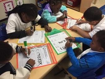 Small Group Write the Letter Kk - Leslie Garrison