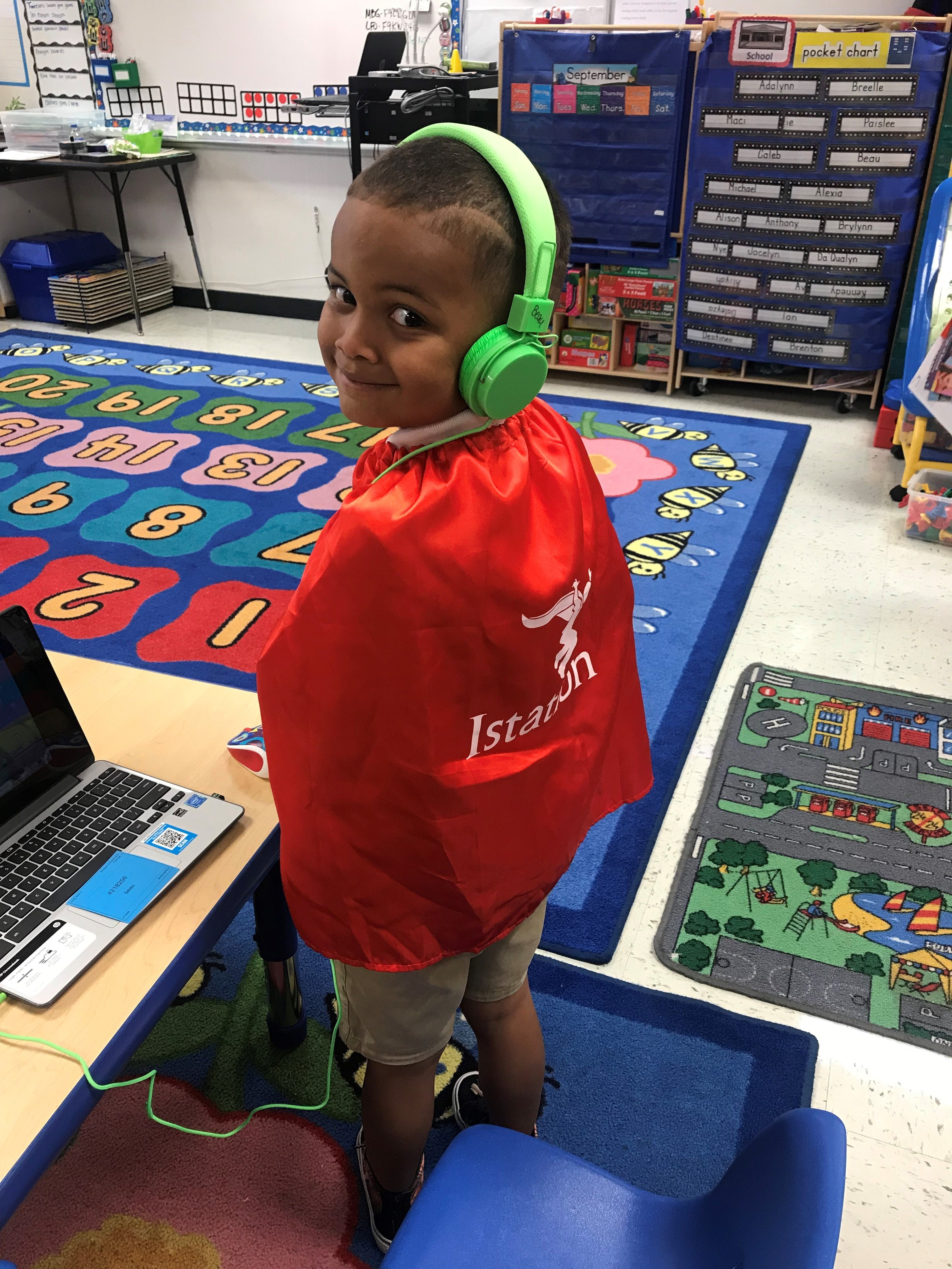 Pre-k student on Istation