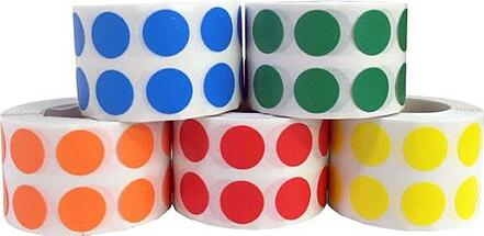 Colored dots for organization