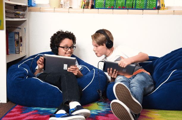 Istation kids on iPads