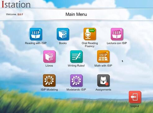 Istation's Home Screen